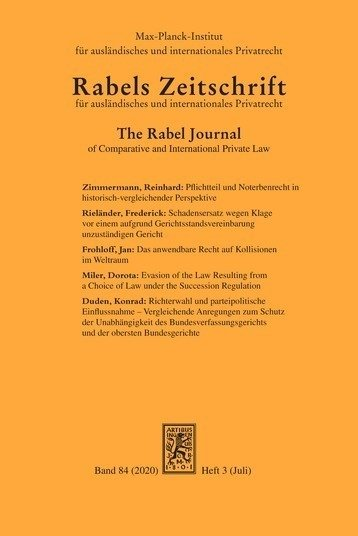 The Rabel Journal of Comparative and International Private Law