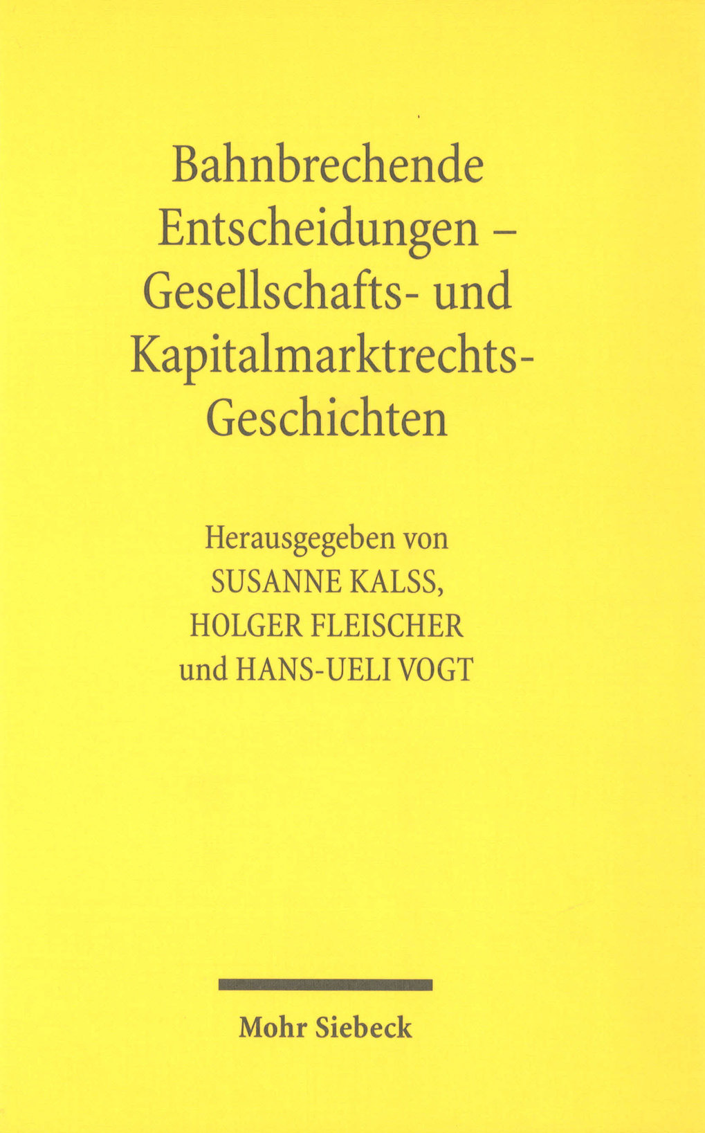 Company Law and Capital Markets Law in Germany, Austria and Switzerland
