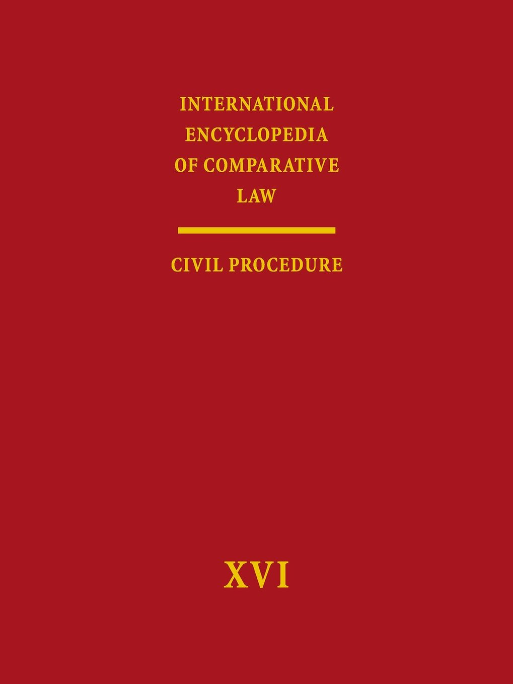 International Encyclopedia of Comparative Law